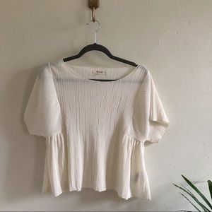 Madewell Pleated Butterfly Top